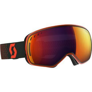 Scott LCG, orange/black/Lens: solar red chr - Skibrille