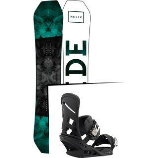 Set: Ride Helix 2017 + Burton Mission 2017, black - Snowboardset