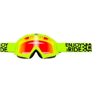 ONeal B-Flex Launch, neon yellow/lens: red fire radium - MX Brille