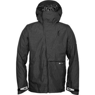 686 Glacier Hydra Thermagraph Jacket, Black Heather Twill - Snowboardjacke