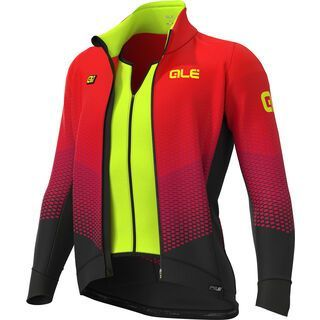 Ale Delta Combi DWR Stretch Jacket, black/red - Radjacke