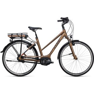 Cube Travel Hybrid 400 Trapeze 2017, havanna brown´n´orange - E-Bike