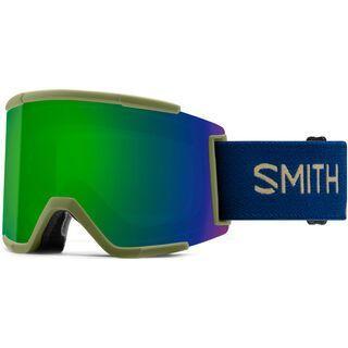 Smith Squad XL inkl. Wechselscheibe, navy camo split/Lens: chromapop sun green mirror - Skibrille