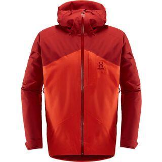 Haglöfs Niva Insulated Jacket Men, rubin/habanero - Skijacke