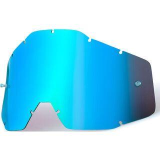 100% Racecraft/Accuri/Strata Replacement Lens, mirror blue