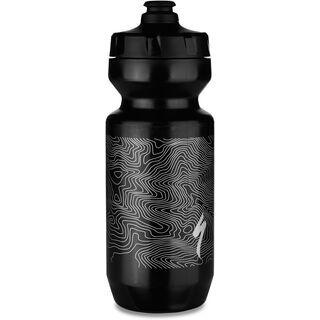 Specialized Purist MoFlo Water Bottle 22 oz, black/metallic silver - Trinkflasche