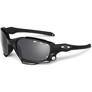 Oakley Racing Jacket Vented, Polished Black/Black Iridium & P42 - Sportbrille
