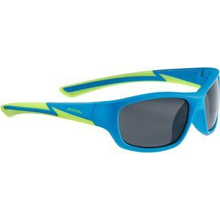 Alpina Flexxy Youth, blue matt lime/Lens: black - Sonnenbrille
