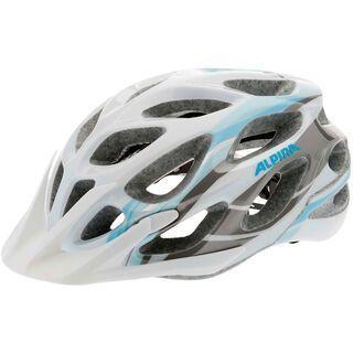 Alpina Mythos 2.0, white lightblue darksilver - Fahrradhelm