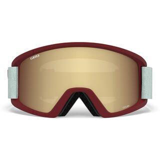 Giro Dylan inkl. WS, scarlet grey peak/Lens: amber gold - Skibrille