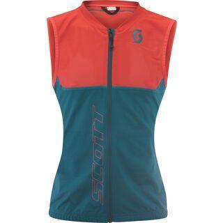 Scott Actifit Plus Light Vest Women, dragonfly green/hibiscus red - Protektorenweste