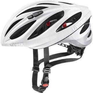 uvex boss race, white silver - Fahrradhelm