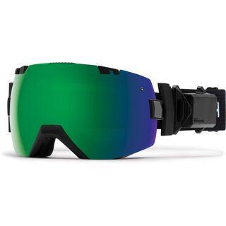 Smith I/OX Turbo Fan inkl. Wechselscheibe, black/Lens: sun green mirror chromapop - Skibrille