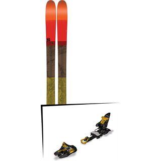 Set: K2 SKI Poacher 2017 + Marker Kingpin 10 75-100 mm, black/gold - Skiset