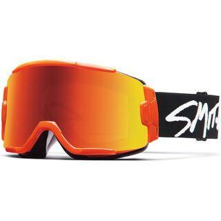 Smith Squad, orange/Lens: red sol-x mirror