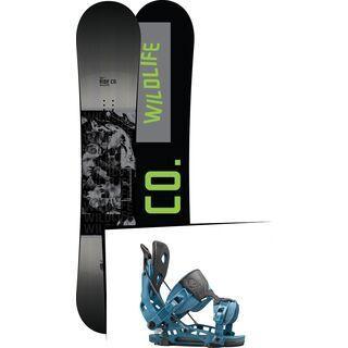 Set: Ride Wild Life 2017 + Flow NX2 2016, blue - Snowboardset