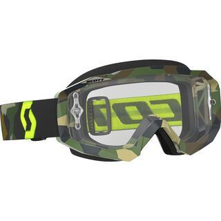 Scott Goggle Hustle MX, grey/fluo yellow/Lens: clear - MX Brille