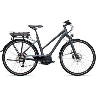 Cube *** 2. Wahl *** Touring Hybrid 400 Trapeze 2017   Größe 46 cm, grey´n´flashred - E-Bike