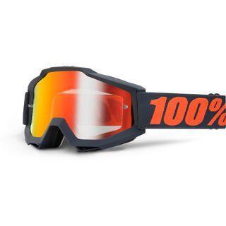 100% Accuri inkl. Wechselscheibe, gunmetal/Lens: mirror red - MX Brille