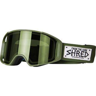 Shred Simplify inkl. Wechselscheibe, martial/Lens: cbl green - Skibrille
