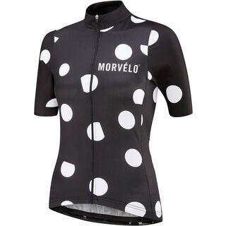 Morvelo Women's Pongo Standard SS Jersey, black/white - Radtrikot