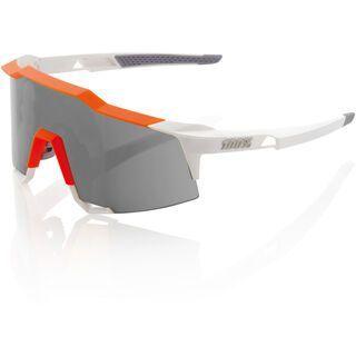 100% Speedcraft, white/orange/Lens: smoke - Sportbrille
