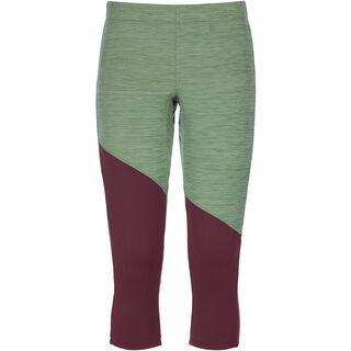 Ortovox Merino Fleece Light Short Pants W, green forest blend - Unterhose