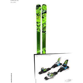 K2 SKI Set: Press 2014 + Marker Squire Schizo 11