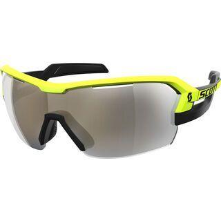 Scott Spur, black/yellow/Lens: green chrome enh - Sportbrille
