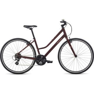 Specialized Alibi Sport Step Through 2017, maroon/coral - Fitnessbike