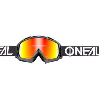 ONeal B-10 Goggle Pixel, black/white/Lens: radium red - MX Brille