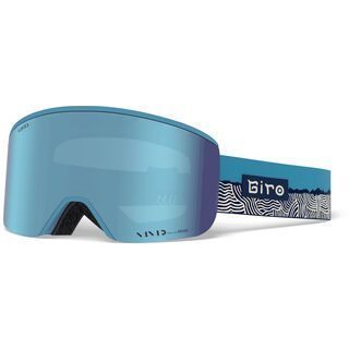 Giro Ella inkl. WS, powder blue ridge line/Lens: vivid royal - Skibrille