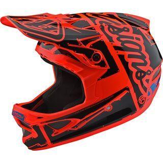 TroyLee Designs D3 Fiberlite Helmet Factory, orange - Fahrradhelm