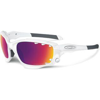 Oakley Racing Jacket, matte white/prizm road & persimmon vented - Sportbrille