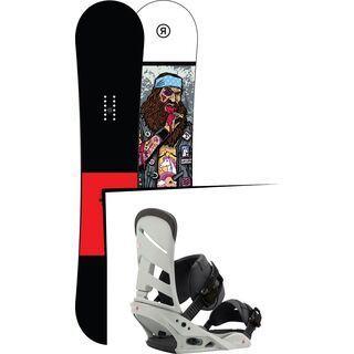 Set: Ride Crook Wide 2017 + Burton Mission 2017, gnarly sheen - Snowboardset