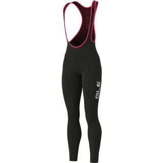 Ale Winter Lady Bibtights, black/fluo-pink - Radhose