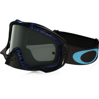 Oakley Crowbar MX, distress tagline stealth blue/Lens: dark grey - MX Brille
