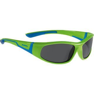 Alpina Flexxy Junior, neon green blue/Lens: black - Sonnenbrille