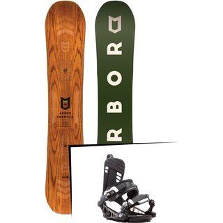 Set: Arbor Formula Premium Mid Wide 2017 + K2 Cinch CTX 2017, black - Snowboardset