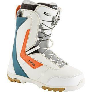 Nitro Sentinel TLS 2019, white/blue/orange - Snowboardschuhe