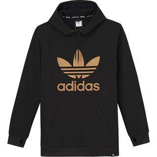 Adidas Team Tech Hoodie, black/gold metallic - Fleecehoody