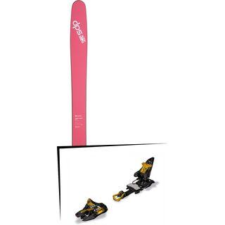 DPS Skis Set: Yvette 112 RP2 Pure3 2016 + Marker Kingpin 10