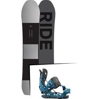 Set: Ride Timeless 2017 + Flow NX2 Hybrid 2016, blue - Snowboardset