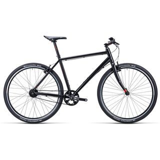 Cube Hyde Pro 2015, black shinyblack red - Urbanbike