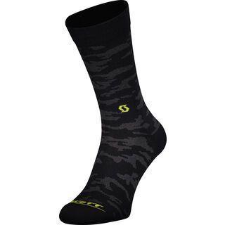 Scott Trail Camo Crew Socks, black/sulphur yellow - Radsocken