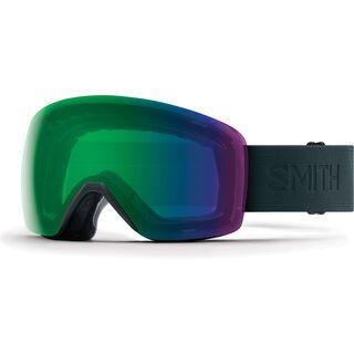 Smith Skyline, deep forest flood/Lens: chromapop everyday green mirror - Skibrille