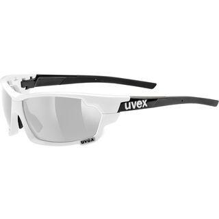 uvex Sportstyle 702 inkl. Wechselgläser, white black/Lens: litemirror silver - Sportbrille