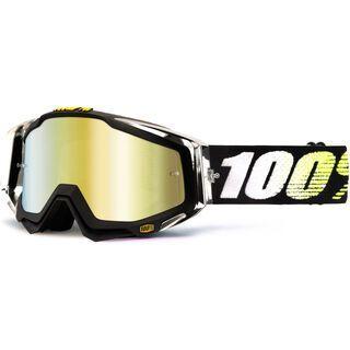 100% Racecraft, t2/gold mirror + clear - MX Brille