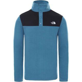 The North Face Men's Tka Glacier Snap-Neck Pullover, mallard blue/tnf black - Fleecepullover
