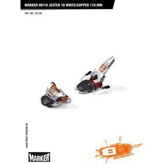 Marker Jester 16 09/10, White/Copper - Skibindung